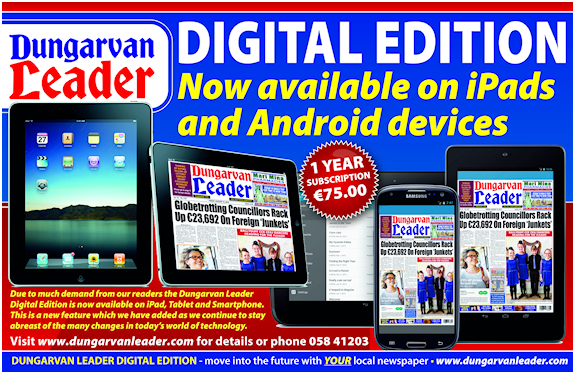 Dungarvan Leader Newspaper digital Edition